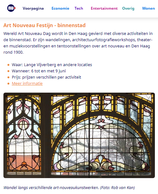 nu.nl Art Nouveau Festijn - binnenstad Den Haag